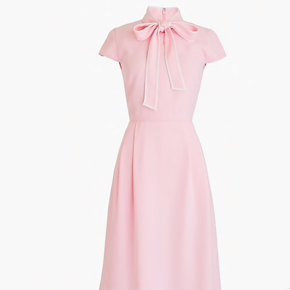 5fba634510dfb J. Crew Dresses | J Crew 365 Crepe Tie Neck Dress New Pink | Poshmark
